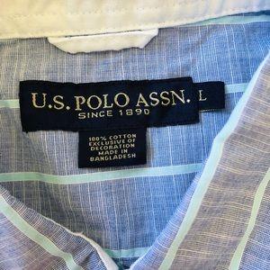 U.S. Polo Assn. Shirts - NWT Blue U.S.  Polo Assn. Shirt Sleeve Button-Down